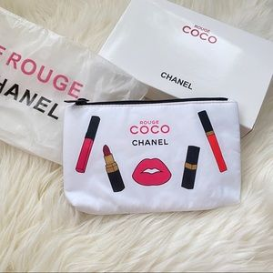 Chanel Beauty VIP small makeup bag NEW